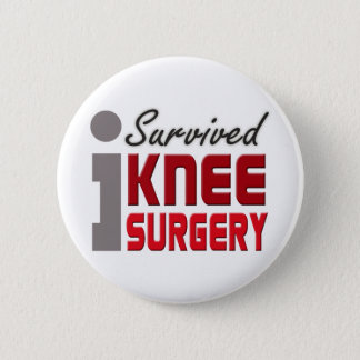 Knee Surgery Survivor Button