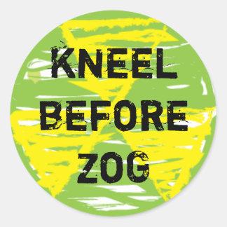 Kneel Before ZoG Stickers