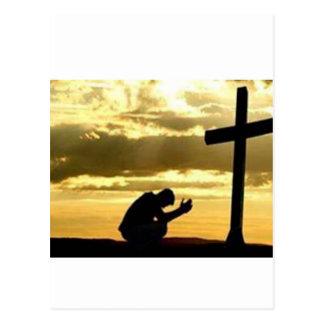 Kneeling At the Cross Postcard
