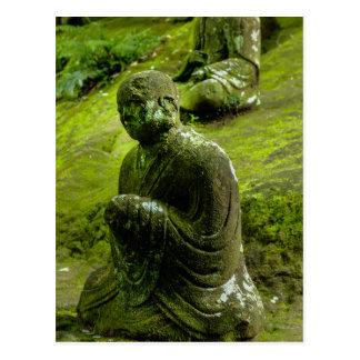 Kneeling Moss Covered Buddha Postcard
