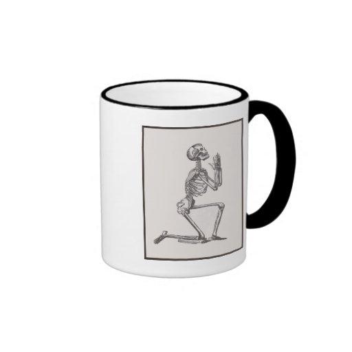 Kneeling Skeleton Mug