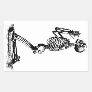 Kneeling Skeleton Sticker