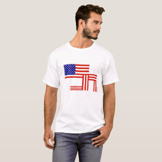 Kneeling US Flag T-Shirt
