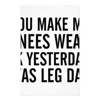 Knees Weak Stationery