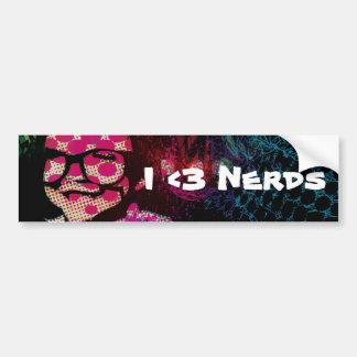 "KNEW! ""I <3 Nerds"" Bumper Sticker"