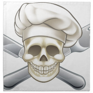 Knife and Fork Pirate Chef Napkin