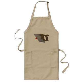 knife and tomato long apron