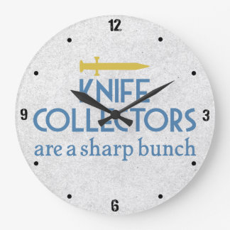Knife Collectors Sharp Large Clock