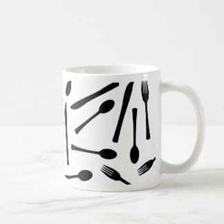 Knife Fork And Spoon Background Coffee Mug
