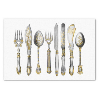 Knife fork spoon kitchen cutlery tissue paper