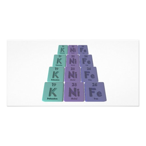 Knife-K-Ni-Fe-Potassium-Nickel-Iron.png Custom Photo Card