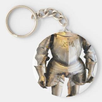 Knight #2 basic round button key ring