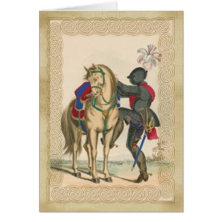 Knight and Armour with Horse Note Card