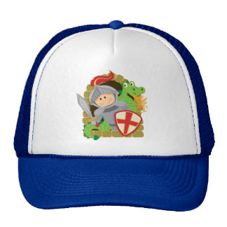 Knight and Dragon Mesh Hat