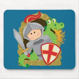 Knight and Dragon Mousepad