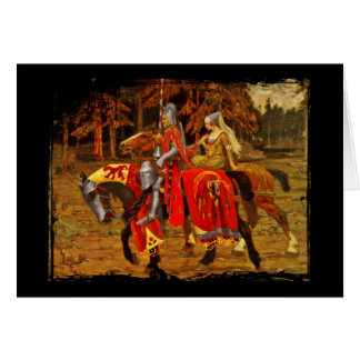 Knight and Maiden Chivalry Greeting Card