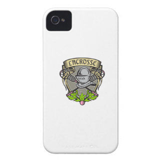 Knight Armor Lacrosse Stick Crest Woodcut iPhone 4 Cover