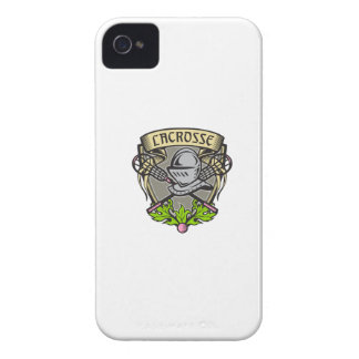 Knight Armor Lacrosse Stick Crest Woodcut iPhone 4 Covers