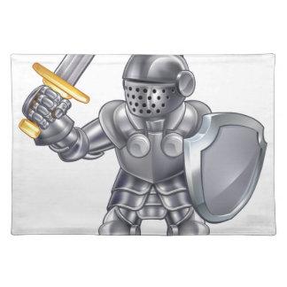 Knight Cartoon Mascot Character Placemat