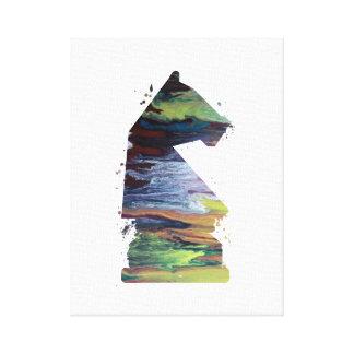 Knight - Chess - Art Canvas Print