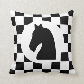 Knight Chess Piece - Pillow - Chess Themed Gift Cushion