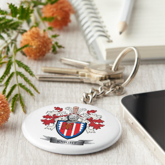 Knight Coat of Arms Basic Round Button Key Ring