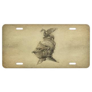 Knight Fantasy License Plate