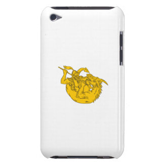 Knight Fighting Dragon Spear Drawing Case-Mate iPod Touch Case