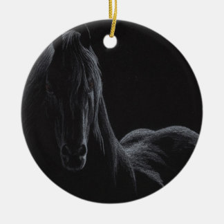 Knight Horse Collection Round Ceramic Decoration