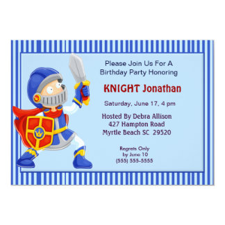 Knight In Armor Birthday Invitation