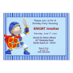Knight In Armour Birthday Invitation 13 Cm X 18 Cm Invitation Card