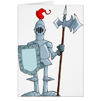 Knight In Armour Greeting Cards
