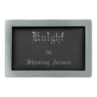 Knight in Shining Armor Rectangular Belt Buckle