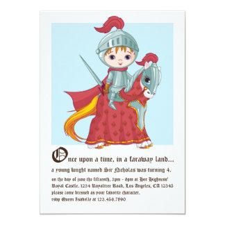 "Knight in Shining Armor Birthday Invitation 5"" X 7"" Invitation Card"
