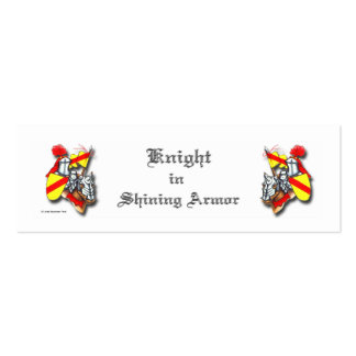 Knight in Shining Armor Pack Of Skinny Business Cards
