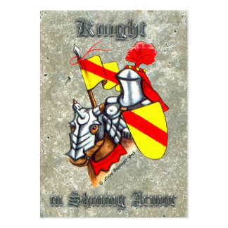 Knight in Shining Armor Pack Of Chubby Business Cards