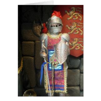 Knight in shining armor greeting card