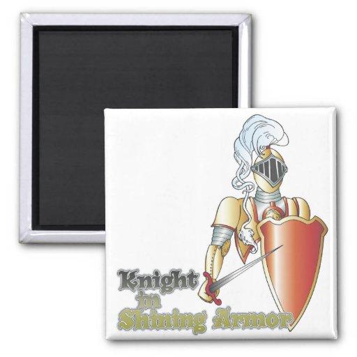 knight in shining armor fridge magnet