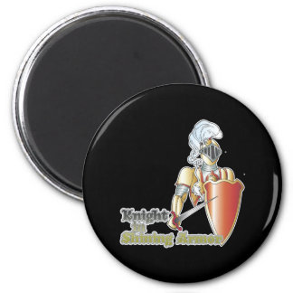 knight in shining armor 6 cm round magnet