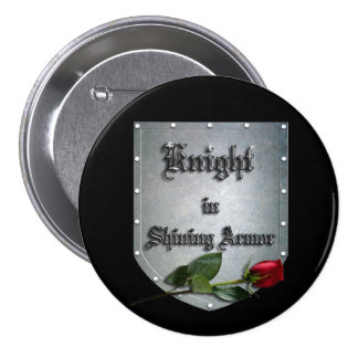 Knight in Shining Armor Red Rose Pins