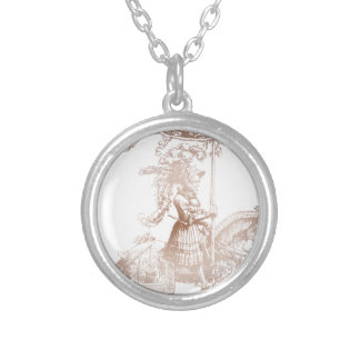 Knight in Shining Armor Round Pendant Necklace