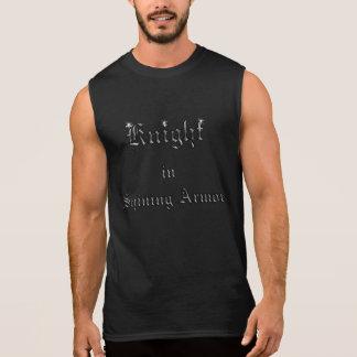 Knight in Shining Armor Silvery Sleeveless Shirts
