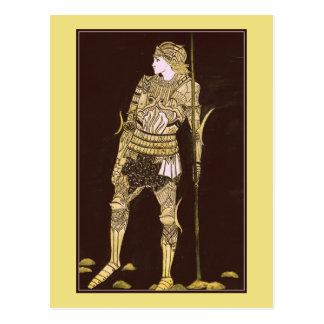 Knight in Shining Armour - Gold Postcard