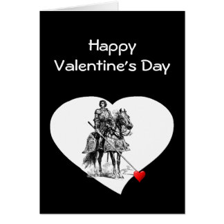 Knight in Shining Armour  Love Valentine Humor Greeting Card
