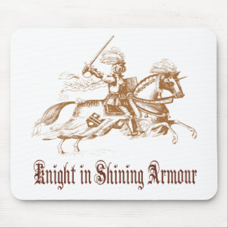knight in shining armour mouse pads
