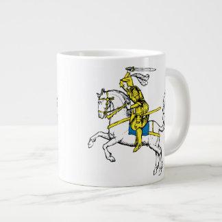 Knight in Yellow Armour Large Coffee Mug