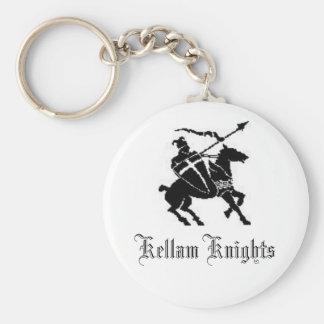 Knight, Kellam Knights Basic Round Button Key Ring