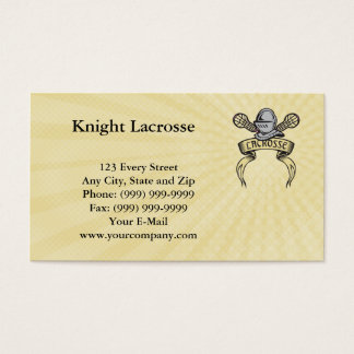 Knight Lacrosse Business Card