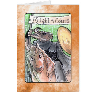 Knight of Coins Card