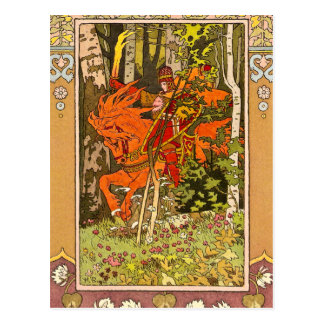 Knight on a Horse Postcard